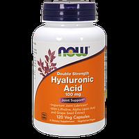 Препарат для восстановления суставов и связок NOW Hyaluronic Acid (100 мг) Double Strength (120 капс)