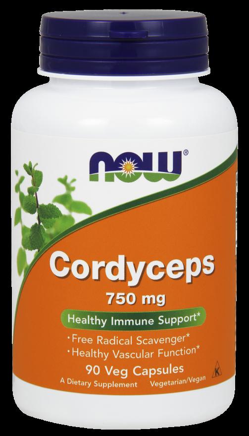 Антиоксидант NOW Foods Cordyceps (750 мг) (90 капс)