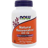 Препарат для поддержки работы организма NOW Foods Natural Resveratrol (120 капс)