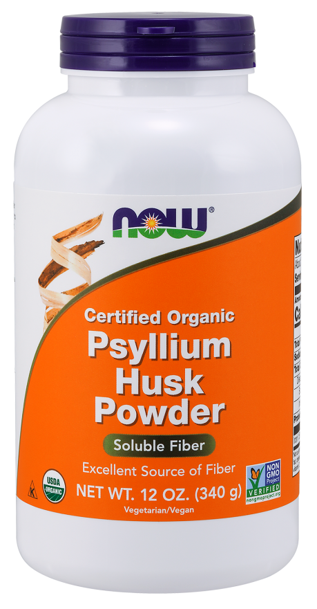 Препарат подорожник и стевия NOW Foods Psyllium Husk Powder(340 г)