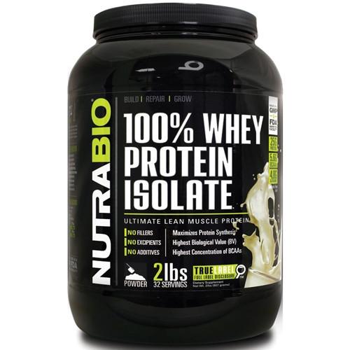 Протеин NutraBio 100% Whey Protein Isolate (2.268 г)