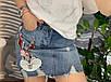 Джинсовая юбка с аппликацией Банни, фото 3