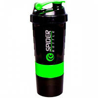 Шейкер SpiderBottle 2Go black cup (500 мл) (Черно-зеленый)