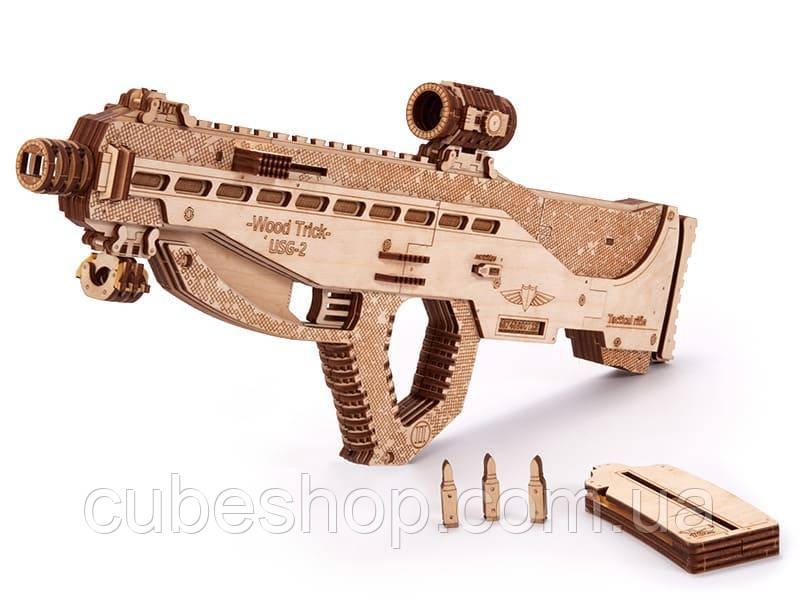 """Деревянный 3d конструктор """"Штурмовая винтовка USG-2"""""""