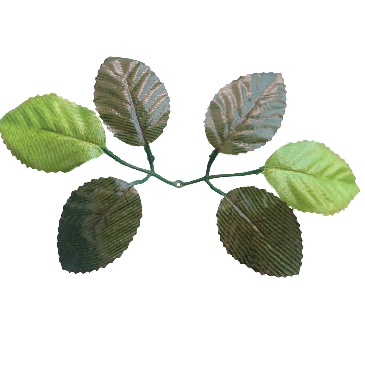 Лист розы 6-ка, 19 см (200 шт. в уп.)