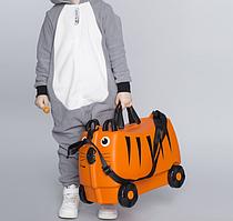 Дитяча Валіза на 4 коліщатках Trunki / Транки помаранчевий колір на 18 л. + Подарунок