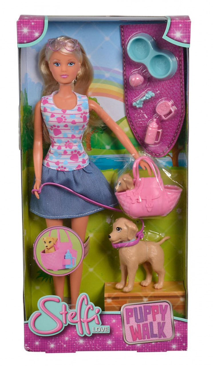 Кукла Steffi Штеффи Прогулка с щенками Simba 5733310 Оригинал