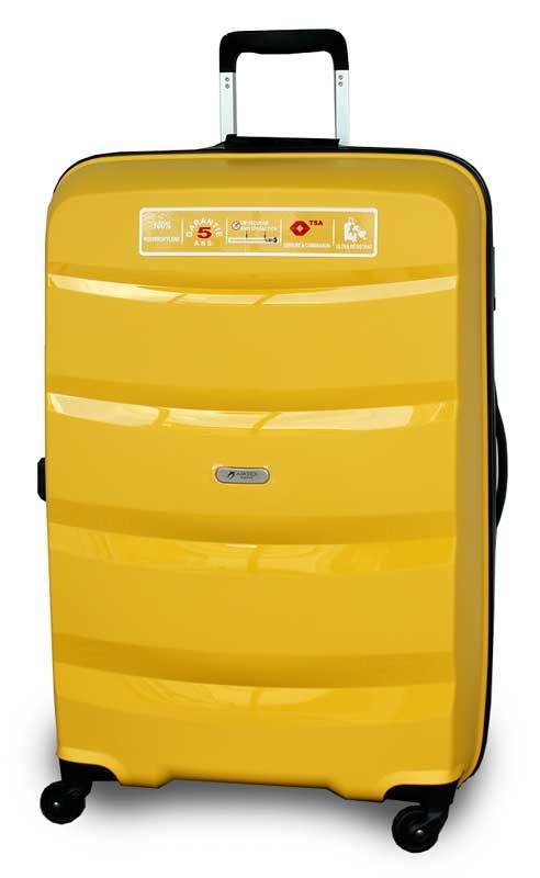 f003e96acd66 ... Пластиковый чемодан на колёсиках Airtex New Star 229 средний (Франция),  ...