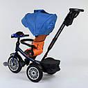 Трехколесный велосипед синий Best Trikeмодели9288 пульт надувные колеса поворотное сидение музыка свет, фото 2