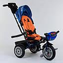 Трехколесный велосипед синий Best Trikeмодели9288 пульт надувные колеса поворотное сидение музыка свет, фото 4