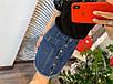 Женская джинсовая юбка на пуговицах с карманами, фото 2