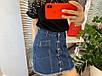 Женская джинсовая юбка на пуговицах с карманами, фото 3