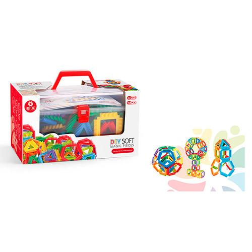 Конструктор Magic Pieces (пластиковые блоки, 48 шт.) в чемодане арт. 8041Y