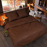 """Полуторное постельное белье """"Gold"""" - коричневого окраса"""