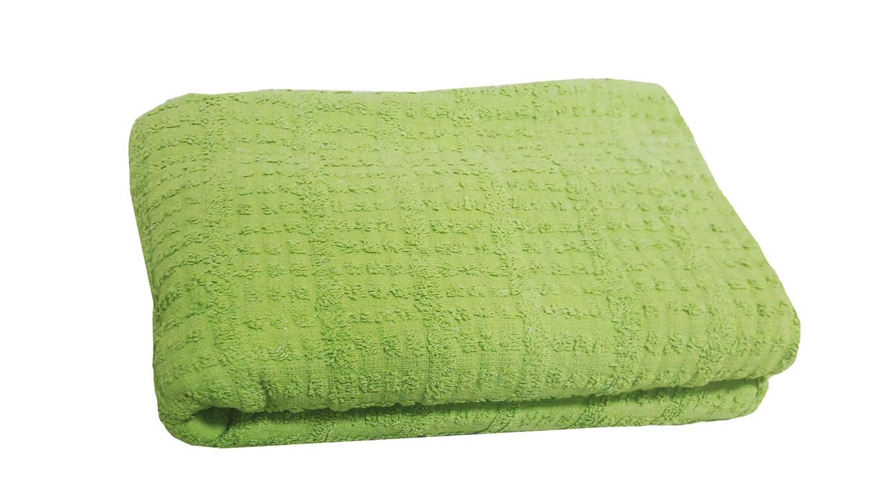 Простынь махровая 150х210 Зеленый