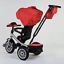Трехколесный велосипед красный Best Trike модели 9288 пульт надувн колеса поворот сидение музыка свет, фото 4