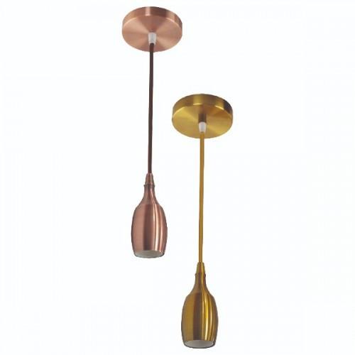Светильник подвесной WEBER Е27 (медь, бронза, золото, хром)
