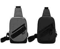 Мужская сумка слинг с USB-портом /Чоловіча сумка слінг з USB-портом.CROSS BODY