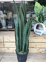 Сансеверия искусственная зеленая 90 см, фото 1