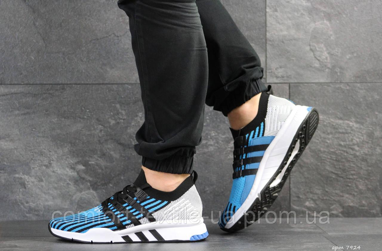 5fb805a292e805 Кросівки чоловічі Adidas Equipment adv 91-18 блакитні із світло сірим - ZIK  shoes в