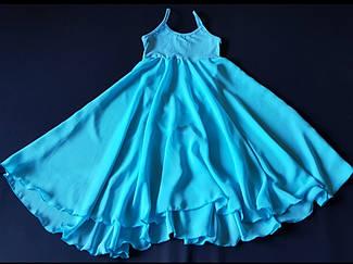 Купальник - платье для бальных танцев с шифоном 4