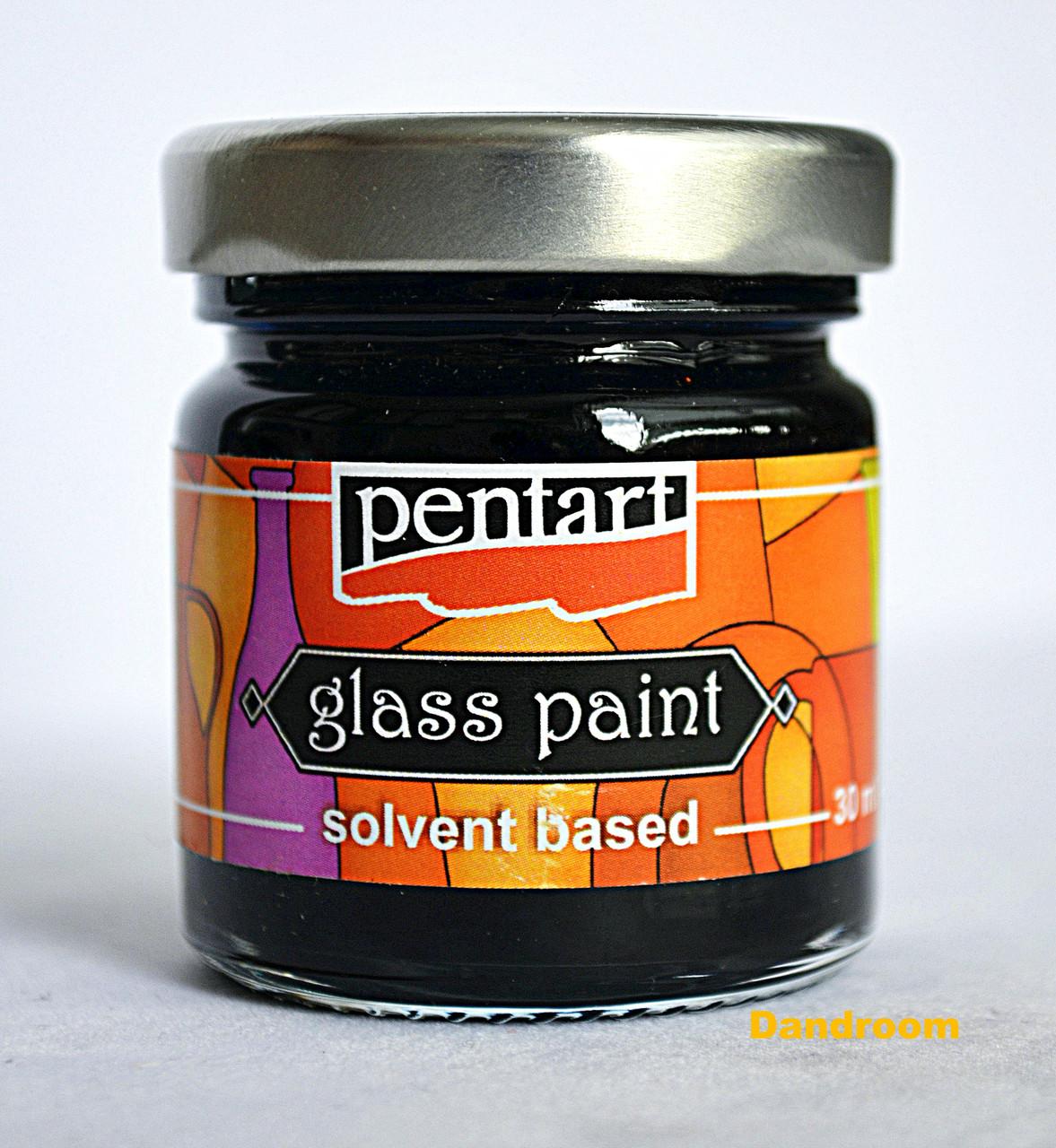Краска витражная на основе растворителя холодной фиксации, Голубая светлая, 30 мл, Pentart