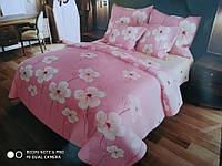 Комплект постельного белья Евро стандарта Gold белые фиалки