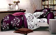 Комплект постельного белья Евро стандарта Gold фиолетового окраса