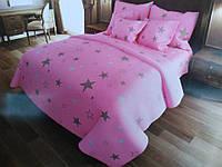 Комплект постельного белья Евро стандарта Gold розовое небо
