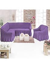 Универсальный чехол на угловой диван + кресло