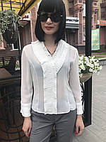 Блуза шелковая женская белая, фото 1