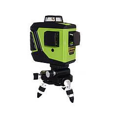 Лазерний рівень нівелір Fukuda MW-93T-2-3GJ 3D три на 360 зелений промінь