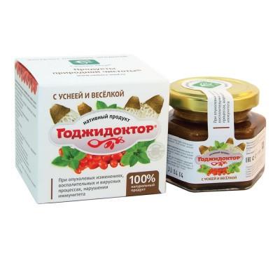 Годжидоктор с уснеей и весёлкой противоопухолевое 100г Сашера-мед