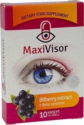 MaxiVisor  для восстановления зрения 10 капсул Сашера-мед