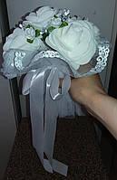 """Свадебный букет-дублёр невесты """"Кружева"""" (белый)"""