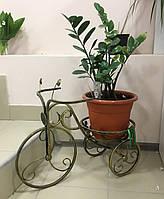 Кованая подставка для цветов Велосипед 1 малый черный/золото, фото 1