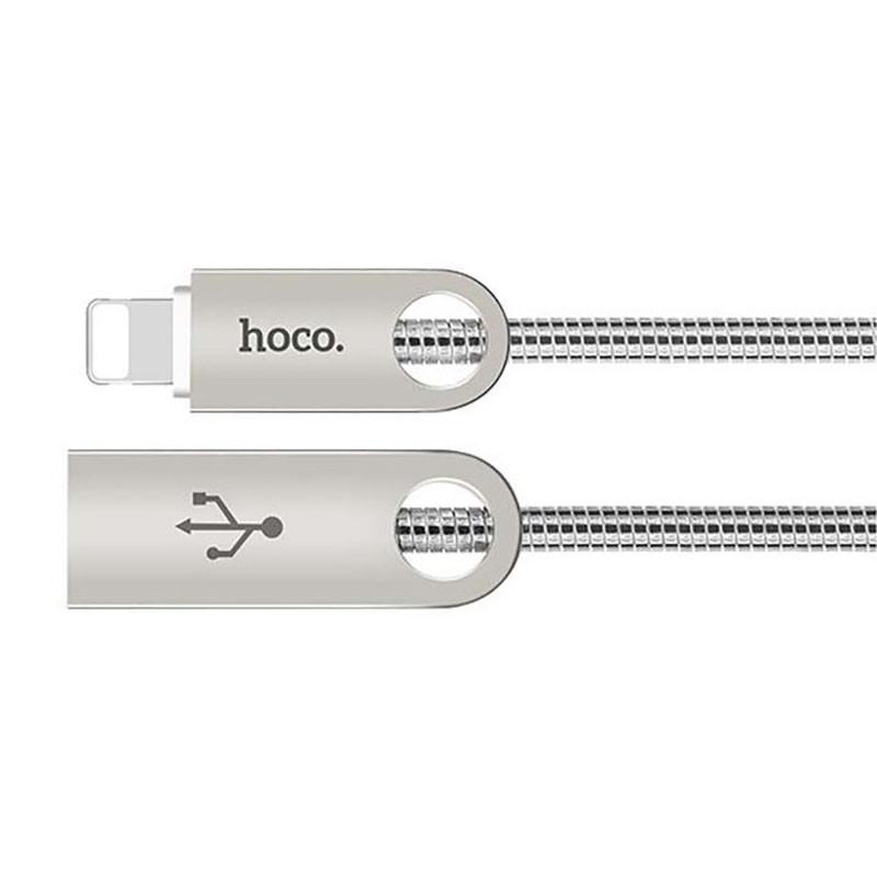 Кабель USB Hoco U8 Lightning Zinc Alloy Metal 1m Tarnish