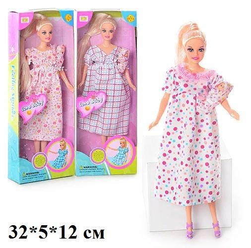 """Лялька (кукла) типу """"Барби"""" """"Вагітна"""" Defa Lucy 6001 (48шт/2) 3 види, дитя, живіт знімається в кор. 12*5*32 см"""