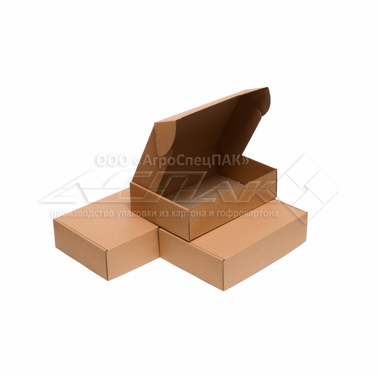 Картонные коробки самосборные 310*220*85 бурые