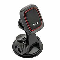 Автодержатель Hoco CA28 Happy journey series suction cup magnetic holder Black