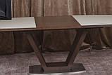 Обеденный раздвижной стол DETROIT 160/220*90 см крем/венге Nicolas (бесплатная доставка), фото 3