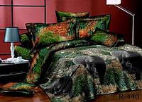 """3D Семейное постельное белье """"Ranforce"""" - Пантера"""