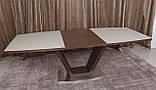 Обеденный раздвижной стол DETROIT 160/220*90 см крем/венге Nicolas (бесплатная доставка), фото 2