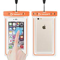 Чехол водонепроницаемый Seagard для мобильных телефонов (с диагональю экрана до 6 дюймов) Orange