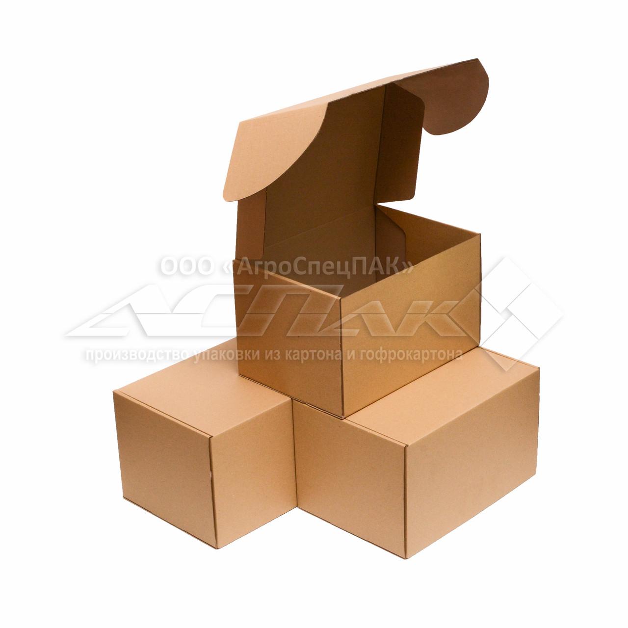 Картонные коробки самосборные 310*220*190 бурые