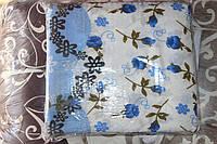 """Комплект полуторного постельного белья жатка """"Тирасполь"""" бело-голубой цвет"""