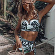 Женский раздельный купальник с завышенной талией , фото 2