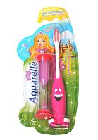 """Зубная щетка для девочек """"Aquarelle Kids"""" с песочными часами"""