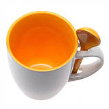 Чашка с ложкой цветная внутри, керамическая, 300 мл, от 10 шт / su 88210286, фото 3