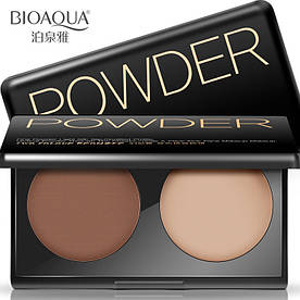 Палетка для контурирования лица BIOAQUA Powder Two Colour Bronzer #02 (7*2г)